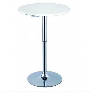 Mesa bar elevable blanca.