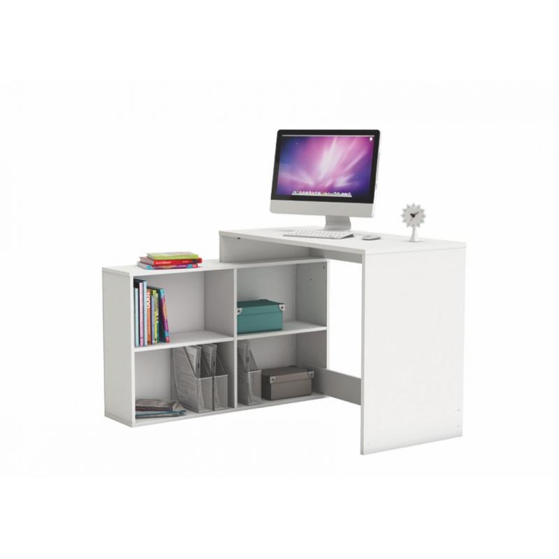 Mesa de escritorio blanca mesa escritorio colonial blanco - Estanteria baja ikea ...