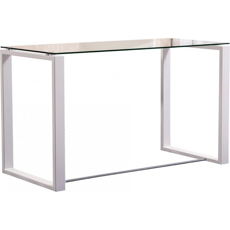 Mesa de estudio cristal latest deskandsit escritorio - Mesas estudio cristal ...