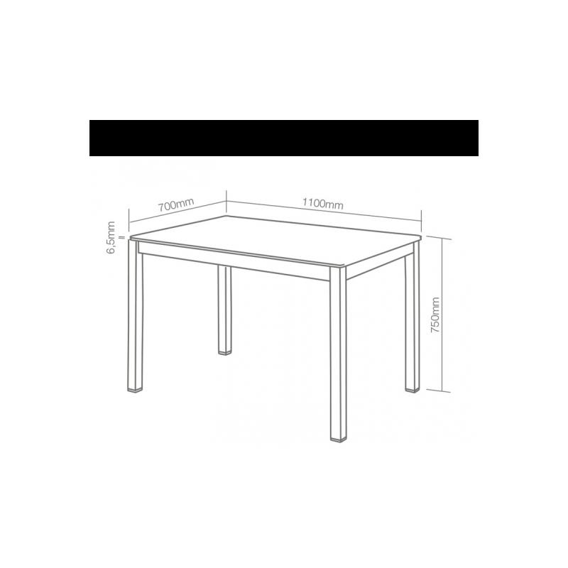 Mesa de cocina cristal - Mesa cocina cristal templado ...