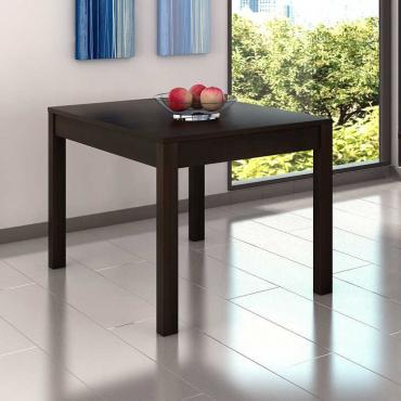 Mesa salon 122x80 extensible wengue