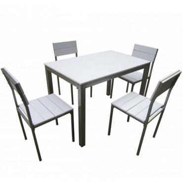 Pack Xobe de mesa+4 sillas