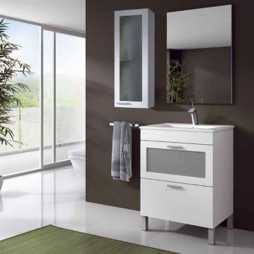 Mueble lavabo con espejo