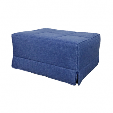 Pouf cama azul