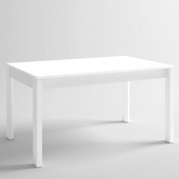 Mesa extensible Malmo II blanca para salón comedor 140-200x74 cm