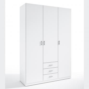 Armario 3 puertas 150 blanco