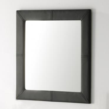 Espejo tapizado negro