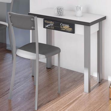 Mesa cocina extensible blanca