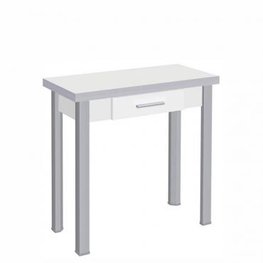 Mesa libro blanca con cajón
