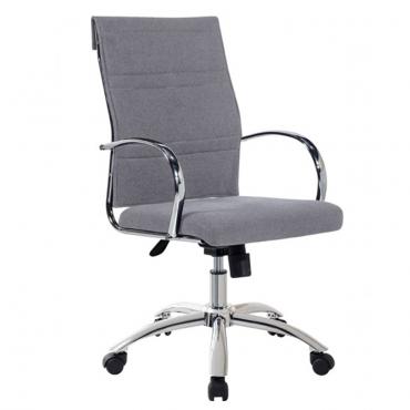 Sillón de despacho en tela gris