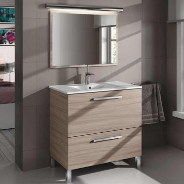 Mueble de aseo y espejo sin lavamanos , Naida color Nature