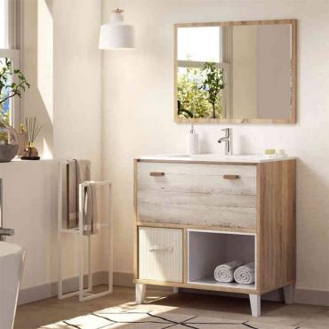 Mueble de baño cambrian y pino
