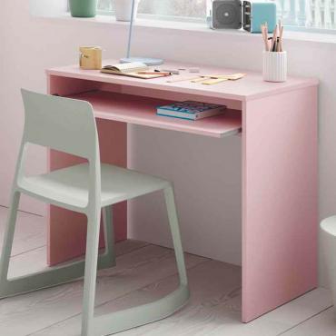 Mesa escritorio rosa