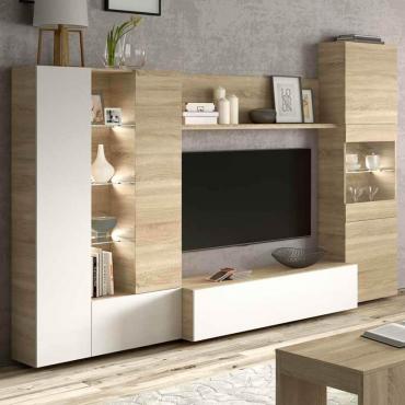 Mueble modular salón LED