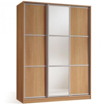 Armario Nova color Cerezo 3 Puertas 1 espejo