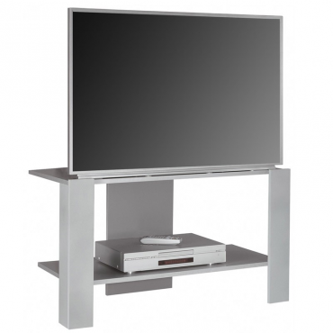 Mesa TV color gris plata