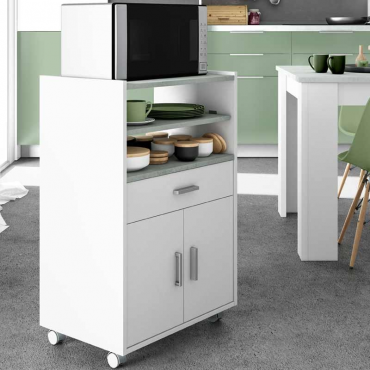 Mueble microondas 1 cajón 2 puertas