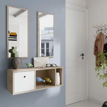 Mueble recibidor 2 espejos