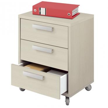 Cajonera escritorio buck Maka color pino