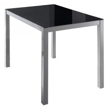 Mesa cristal negro moderna