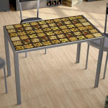 Mesa Pasta seligrafiada
