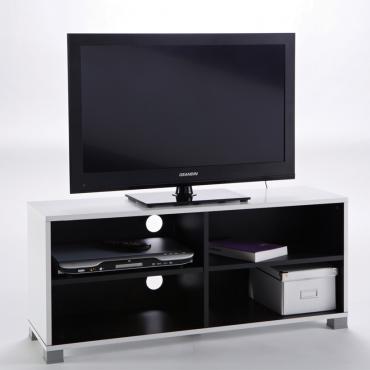 Mesa de TV. Blanco y negro