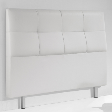 Cabezal tapizado blanco