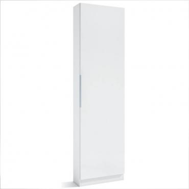 Armario zapatero 1 puerta Trend en color blanco 50x20x180 cm