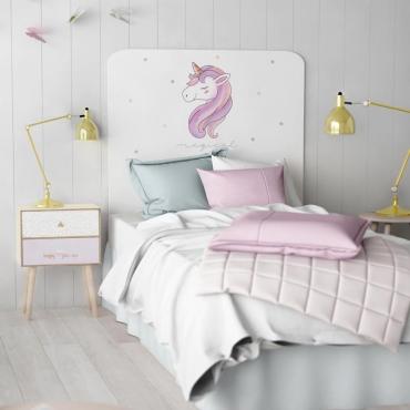 Cabezal infantil Unicorn impresión decorativa