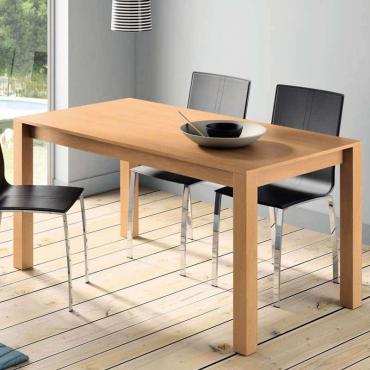 Mesa comedor fija color cerezo estilo moderno