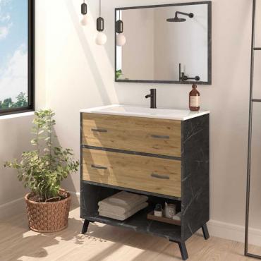 Mueble baño moderno Columbia espejo y lavabo