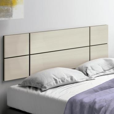 Cabecero cama moderno Maka color pino