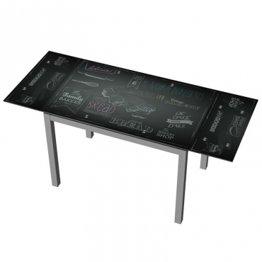 Mesa extensible cocina negra decorada