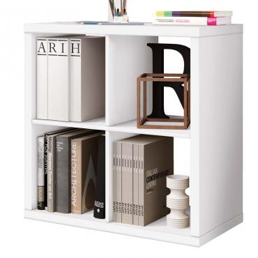 Librería Cubos color blanca