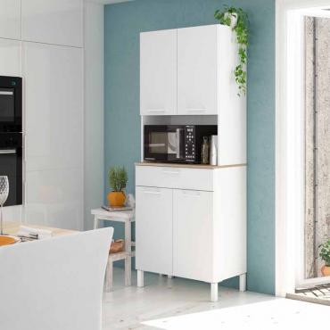 Mueble auxiliar cocina alto Yuka Blanco