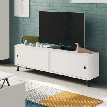 Mueble de TV Kamet blanco salón