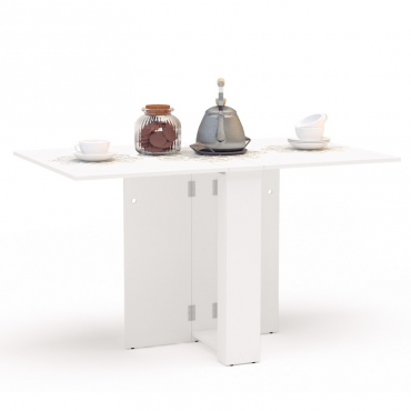 Mesa cocina Swing abatible color blanca