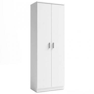 Armario zapatero auxiliar blanco 2 puertas 6 estantes