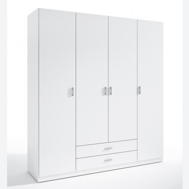 Armario 4 puertas blanco