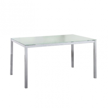 Mesa Nova cristal blanca cocina comedor