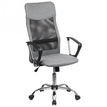 Silla elevable Alfa oficina color gris y negro