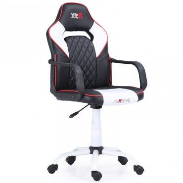 Silla gaming elevable XTR X10 color negro y blanco