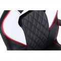 Silla gaming elevable XTR X10 color negro y blanco