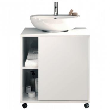 Mueble de baño Sintra blanco brillo moderno